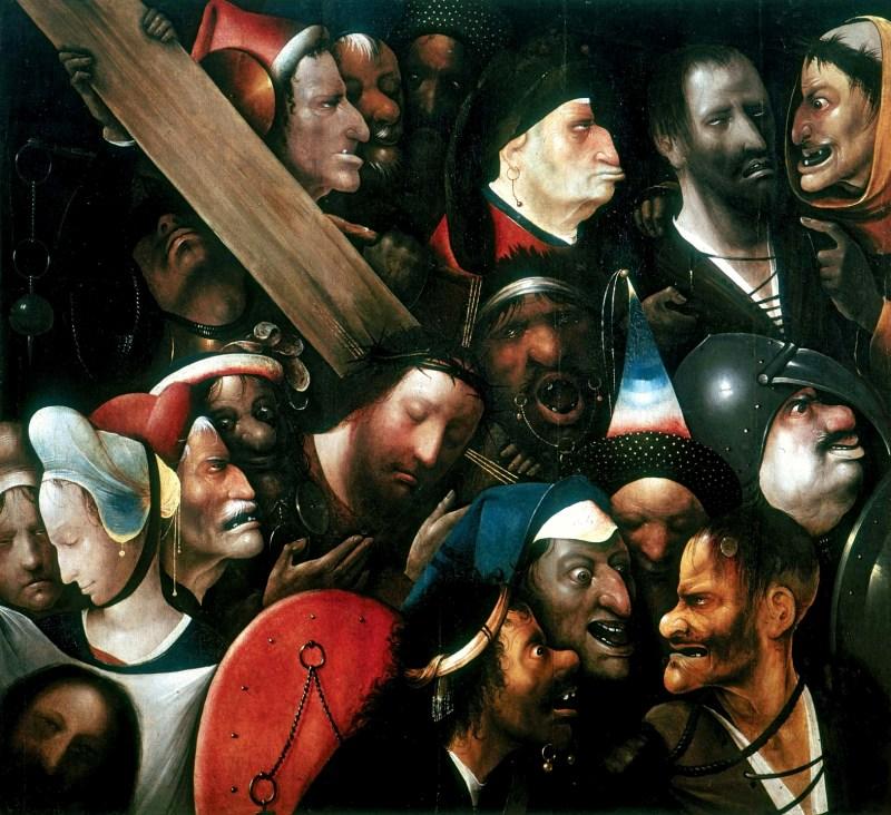 Christ Carrying the Cross, by Hieronymus Bosch, c. 1510-35. Museum of Fine Arts, Ghent, Belgium. Via IllustratedPrayer.com