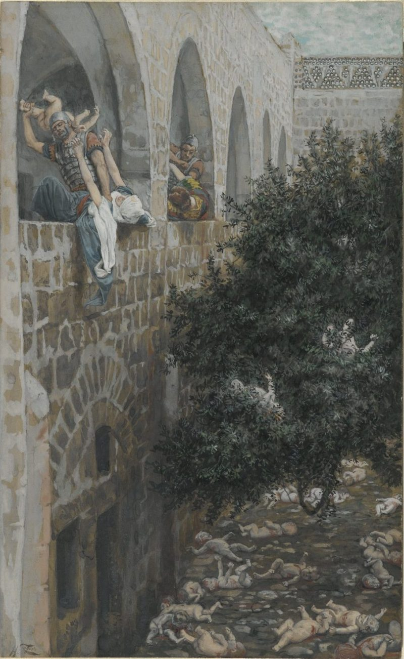 Massacre of the Innocents, by James Tissot, c. 1886-94. Brooklyn Museum, New York, New York, United States. Via IllustratedPrayer.com