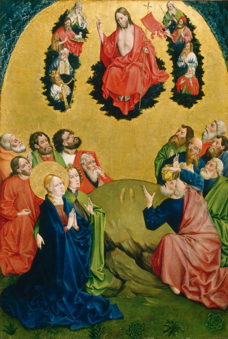 The Ascension, by Johann Koerbecke, c. 1456-57. National Gallery of Art, Washington, D.C., United States. Via IllustratedPrayer.com