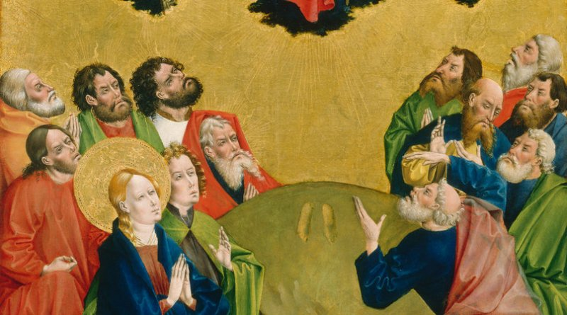 The Ascension, by Johann Koerbecke, c. 1456-57. National Gallery of Art, Washington, D.C., United States. Via IllustratedPrayer.com