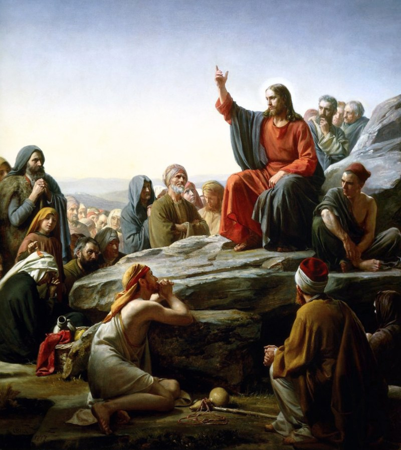 The Sermon on the Mount, by Carl Heinrich Bloch, c. 1890. Museum of Natural History, Frederiksborg Slot, Hillerød, Denmark. Via IllustratedPrayer.com
