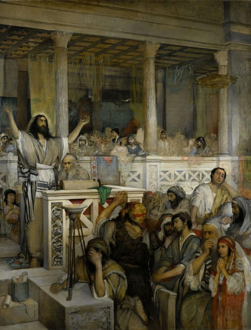 Christ Preaching at Capernaum, by Maurycy Gottlieb, c. 1878-1879. Muzeum Narodowe w Warszawie, Warsaw, Poland. Via IllustratedPrayer.com