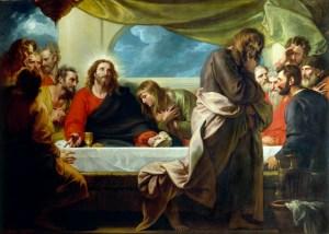 Last Supper, by Benjamin West, c. 1786. Detroit Institute of Arts, Detroit, Michigan, United States. Via IllustratedPrayer.com