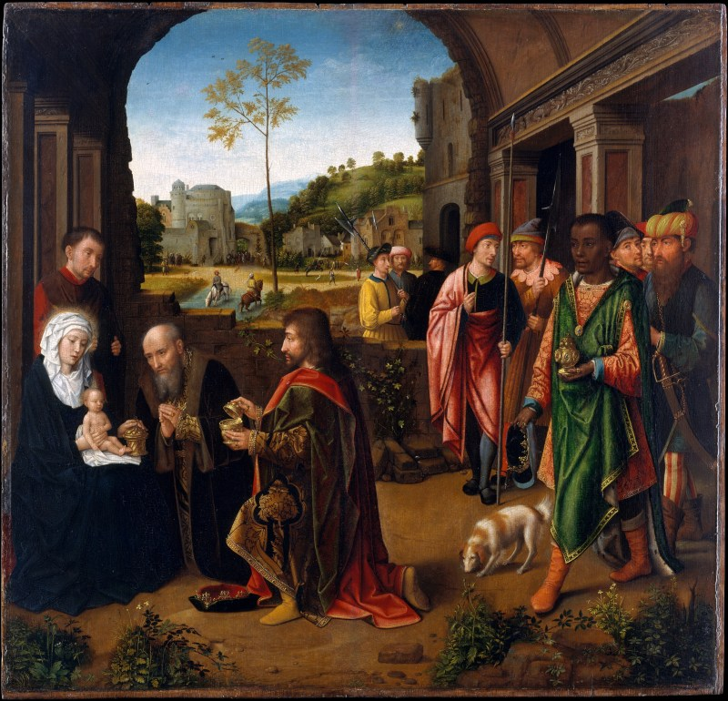The Adoration of the Magi, by Gerard David, c. 1520, Metropolitan Museum of Art, New York, New York, United States. Via IllustratedPrayer.com