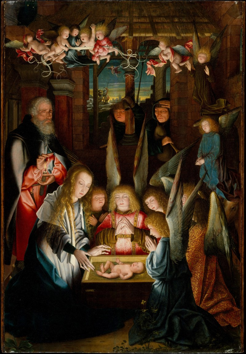 The Adoration of the Christ Child, by Jan Joest of Kalkar, c. 1515. Metropolitan Museum of Art, New York, New York, United States. Via IllustratedPrayer.com