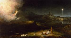 The Angel Appearing to the Shepherds, by Thomas Cole, c. 1833-34. Chrysler Museum of Art, Norfolk, Virginia, United States. Via IllustratedPrayer.com