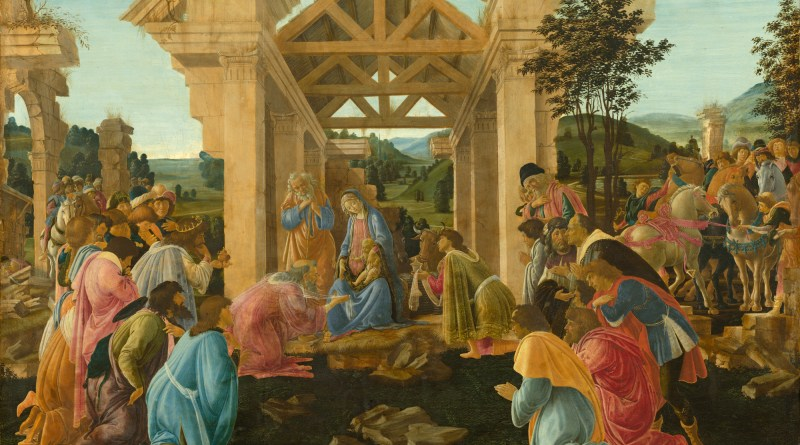 The Adoration of the Magi, by Sandro Botticelli, c. 1478-82. National Gallery of Art, Washington, D.C., United States. Via IllustratedPrayer.com
