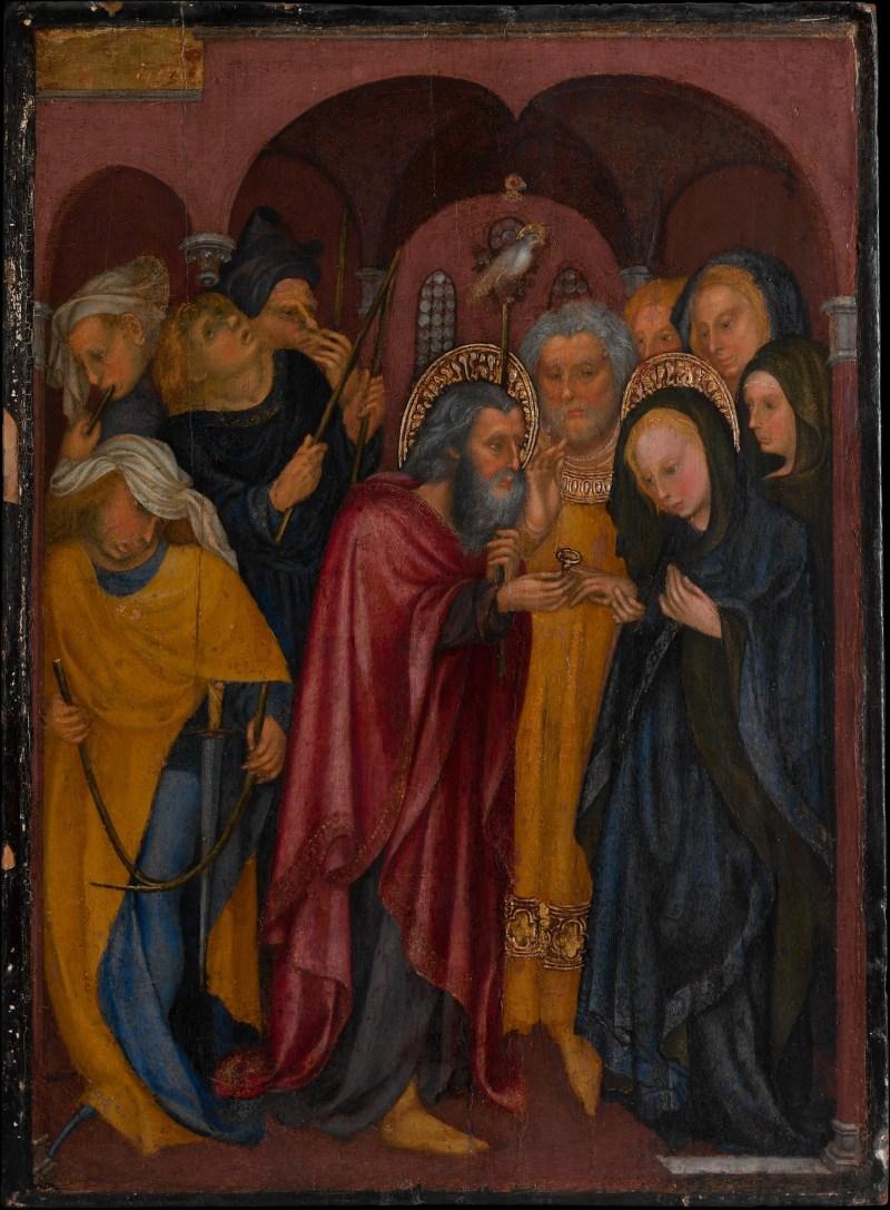 The Marriage of the Virgin, by Michelino da Besozzo, c. 1430. Metropolitan Museum of Art, New York, New York, United States. Via IllustratedPrayer.com