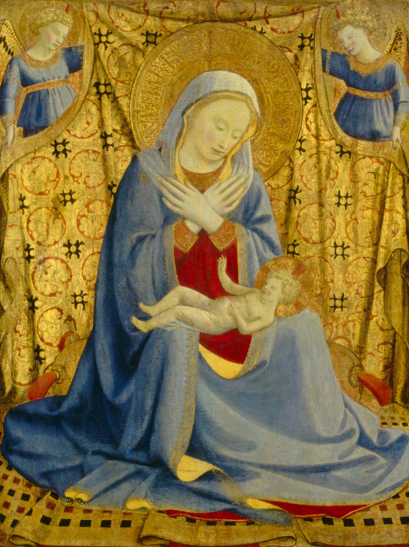 The Madonna of Humility, by Fra Angelico, c. 1430. National Gallery of Art, Washington, D.C., United States. Via IllustratedPrayer.com