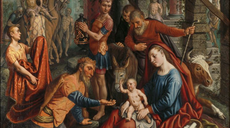 The Adoration of the Magi, by Pieter Aertsen, c. 1560. Rijksmuseum, Amsterdam, Netherlands. Via IllustratedPrayer.com