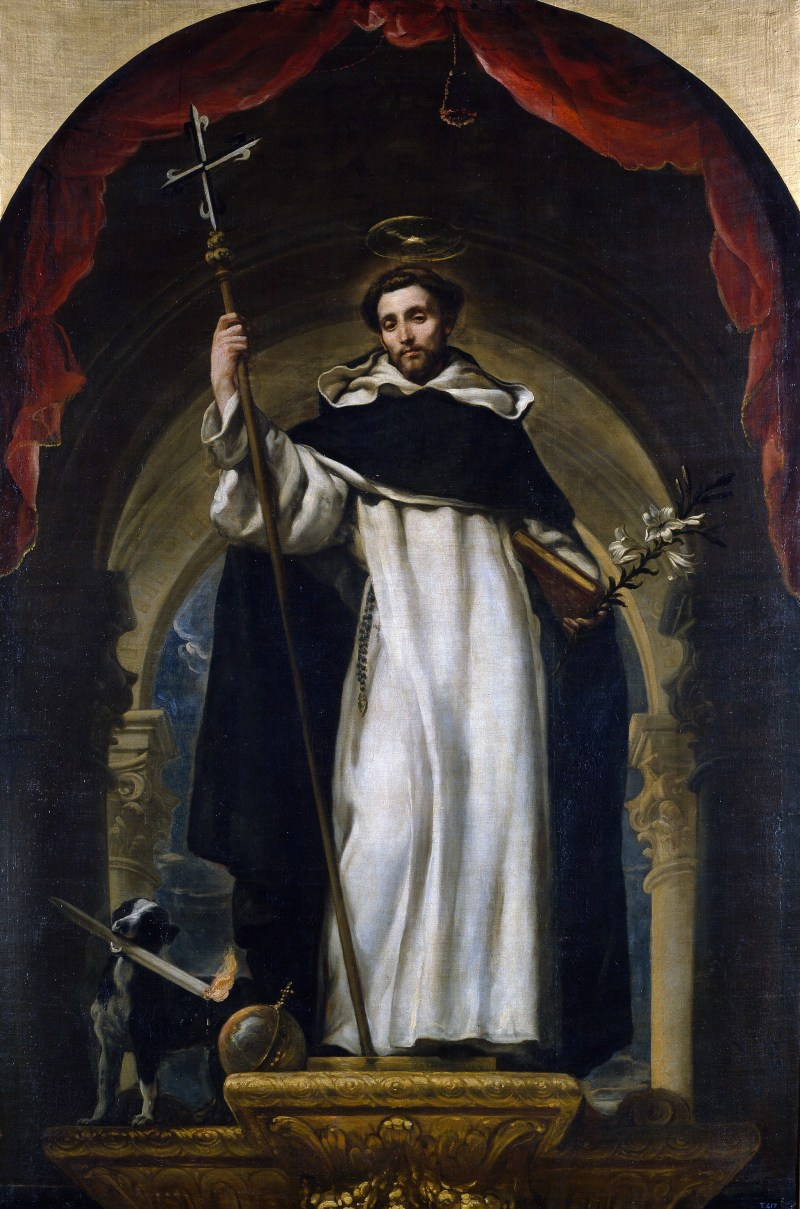 St. Dominic of Guzmán, Claudio Coello, c. 1685. Museo del Prado, Madrid, Spain. Via IllustratedPrayer.com