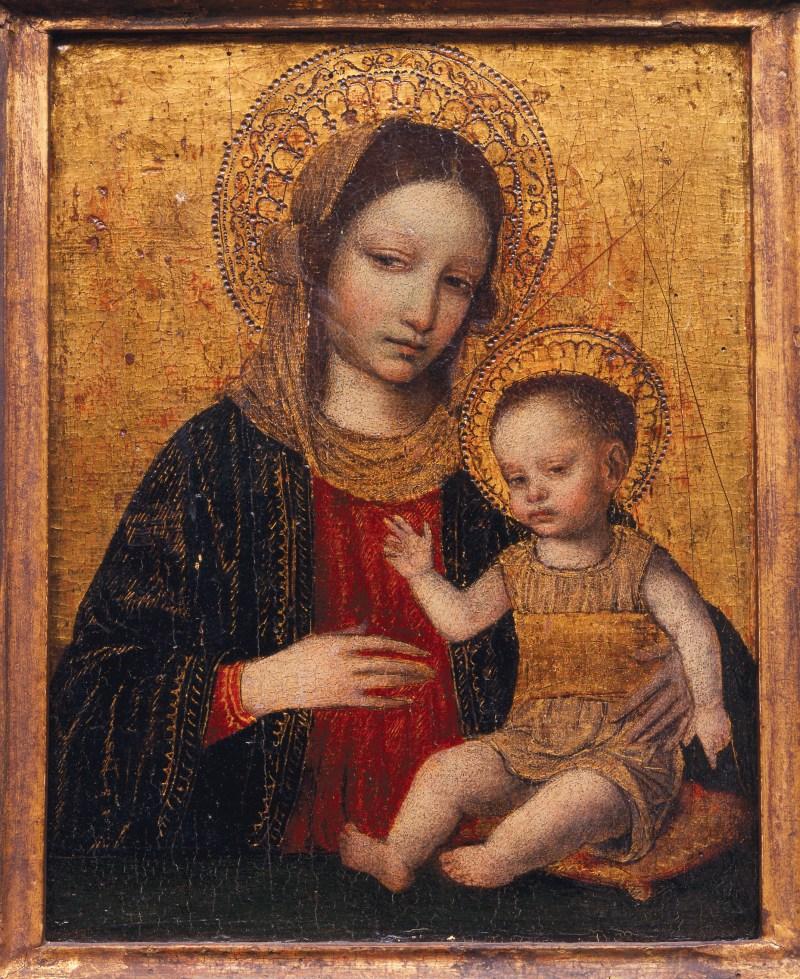 Madonna and Child, by Ambrogio Borgognone, c. 1490s. Georgia Museum of Art, Athens, Georgia, United States. Via IllustratedPrayer.com