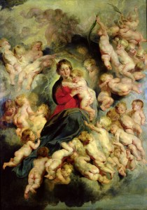Virgin and Child Surrounded by the Holy Innocents, by Peter Paul Rubens, c. 1618. Louvre Museum, Paris, France. Via IllustratedPrayer.com