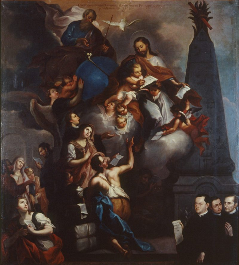 The Ministry of Saint Joseph, by José de Alcíbar, c. 1771. 	Museo Nacional de Arte, Mexico City, Mexico. Via IllustratedPrayer.com