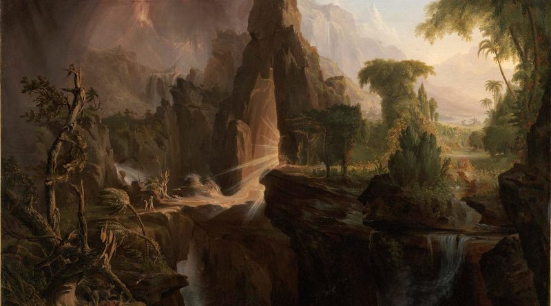 Expulsion of the Garden of Eden, by Thomas Cole, c. 1828. Museum of Fine Arts, Boston, Massachusetts, United States. Via IllustratedPrayer.com
