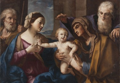 Holy Family with Sts Anne and Joachim, by Elisabetta Sirani, c. 1662.