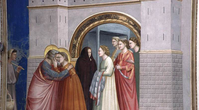 Meeting at the Golden Gate, from Scenes from the Life of Joachim, by Giotto