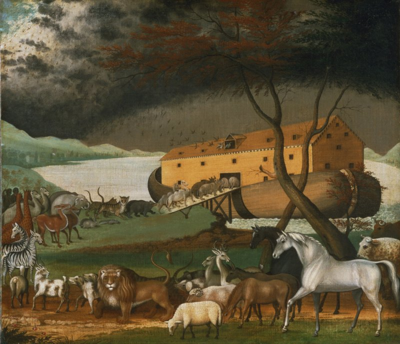 Noah's Ark, by Edward Hicks, c. 1846. Philadelphia Museum of Art, Philadelphia, Pennsylvania, United States.