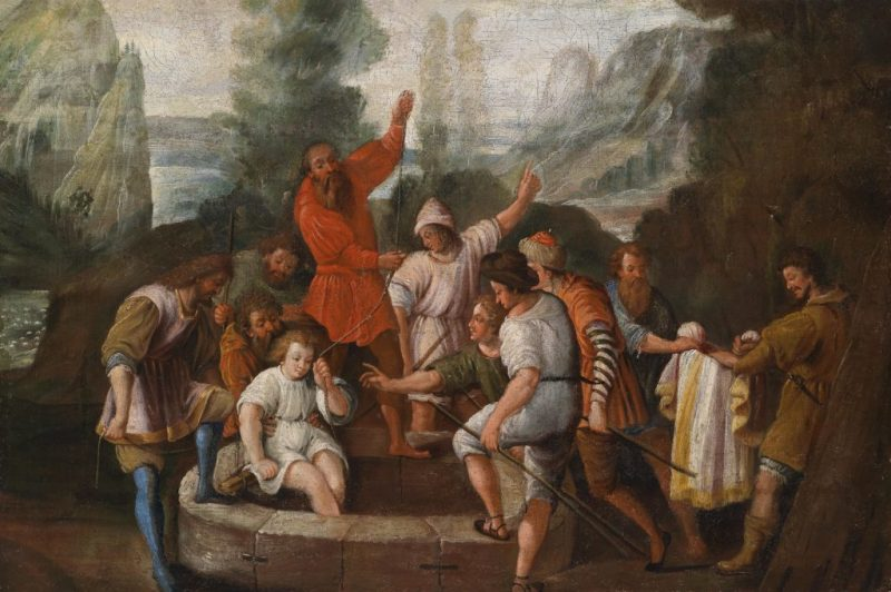 Joseph Thrown into the Well by His Brothers, by Johann Heiss, c. 17th century. Private collection.