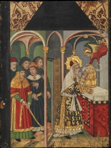 Panel with the Angel Appearing to Zacharias, by Domingo Ram, c. 1464–1507.
