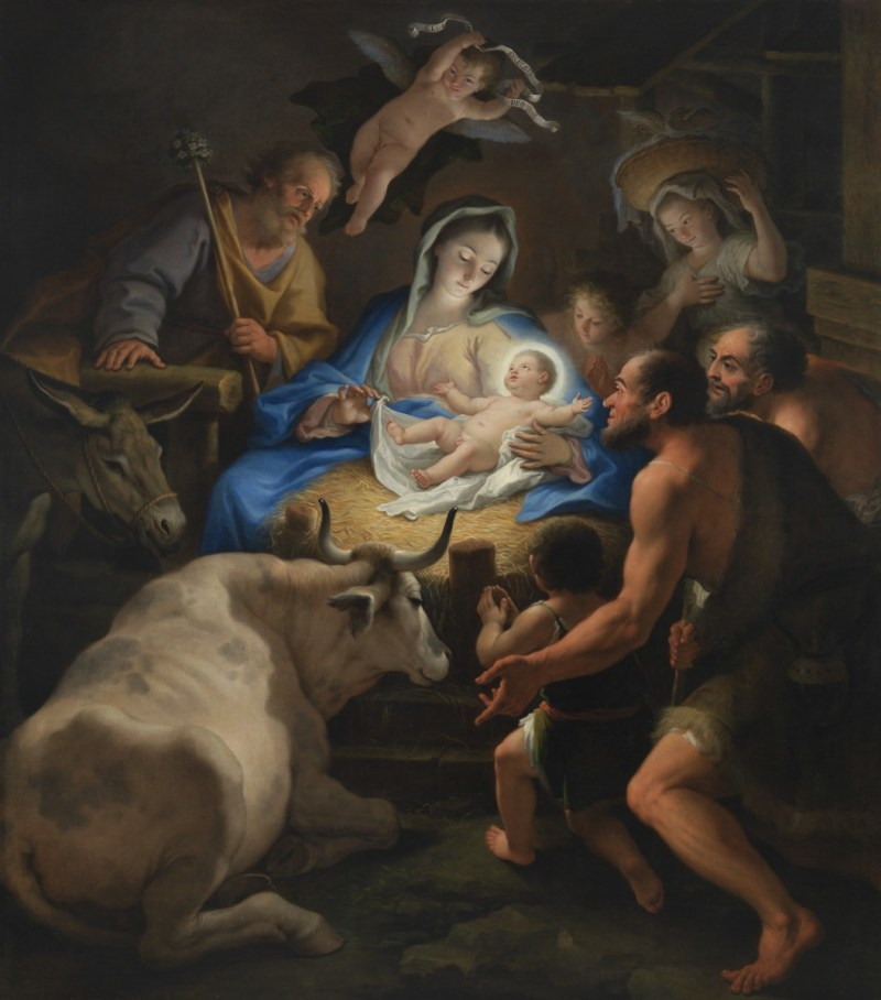Adoration of the Shepherds, by Paolo de Matteis, c, 1712. Virginia Museum of Fine Arts, Richmond, Virginia, United States.