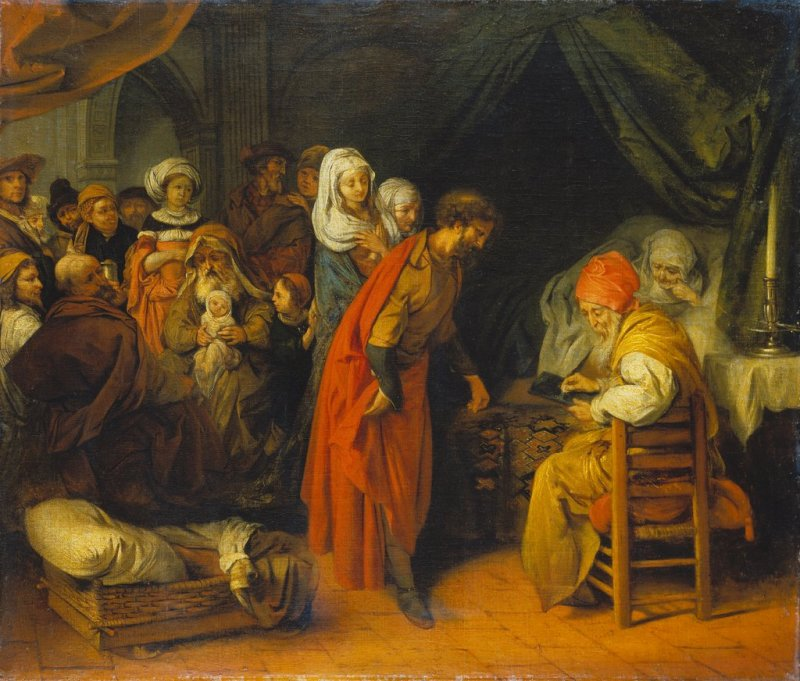 The Birth and Naming of St. John the Baptist, by Barent Fabritius, c. 1660-69. Städel Museum, Frankfurt, Germany.