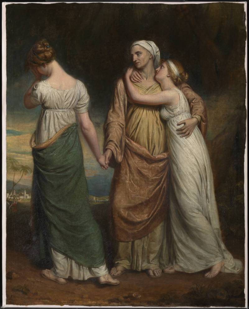 Naomi and her Daughters, by George Dawe, c. 1803. Tate Gallery, London, United Kingdom.