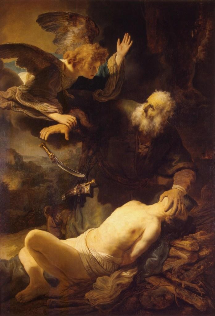 Sacrifice of Isaac, by Rembrandt Harmensz. van Rijn, c. 1635. State Hermitage Museum, St. Petersburg, Russia.