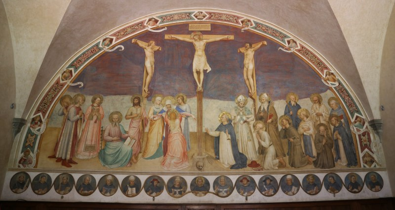 Crucifixion and Saints, by Fra Angelico, c. 1441-42. Convento di San Marco, Florence, Italy.