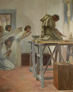 Fra Angelico Visited By Angels, by Paul-Hippolyte Flandrin