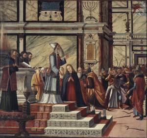 The Marriage of the Virgin, by Vittore Carpaccio, c. 1502-04. Pinacoteca di Brera, Milan, Italy.