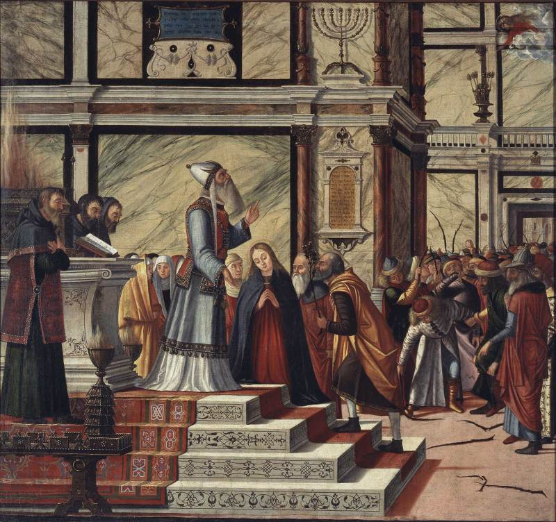 The Marriage of the Virgin, by Vittore Carpaccio, c. 1502-04. Pinacoteca di Brera, Milan, Italy.