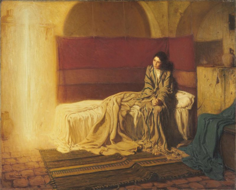 The Annunciation, by Henry Ossawa Tanner, c. 1898. Philadelphia Museum of Art, Philadelphia, Pennsylvania, United States.