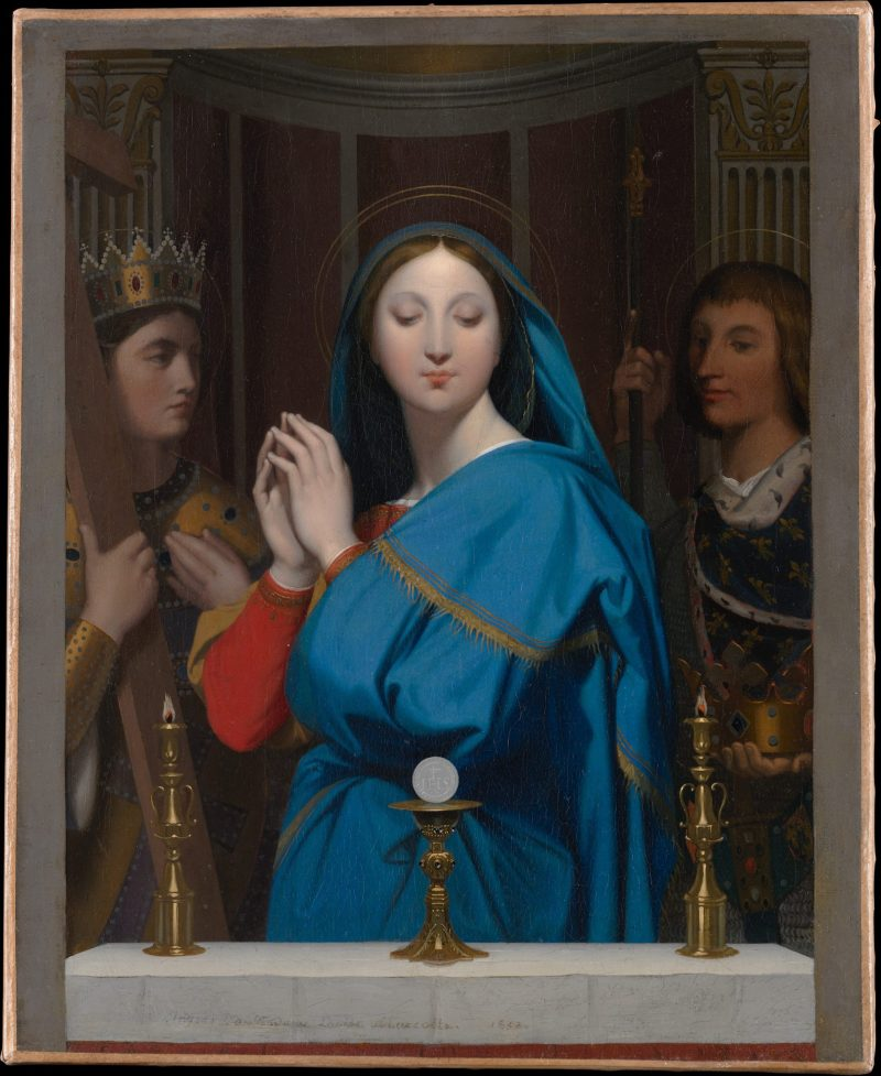 The Virgin Adoring the Host, by Jean Auguste Dominique Ingres, 1852. Metropolitan Museum of Art, New York, New York, United States.