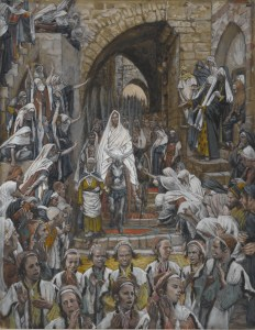 The Procession in the Streets of Jerusalem, by James Tissot, c. 1886-94. Brooklyn Museum, New York, New York, United States.