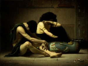 Lamentations over the Death of the First-Born of Egypt, by Charles Sprague Pearce, c. 1877. Smithsonian American Art Museum, Washington, D.C., United States.