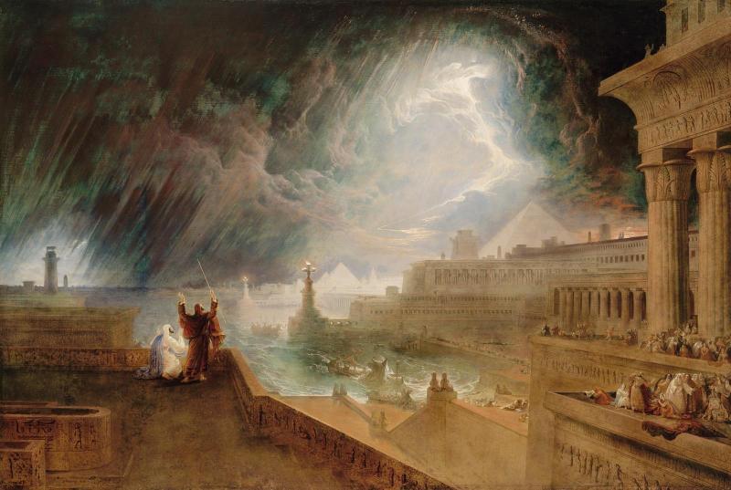 Seventh Plague of Egypt, by John Martin, c. 1823. Museum of Fine Arts, Boston, Massachusetts, United States.