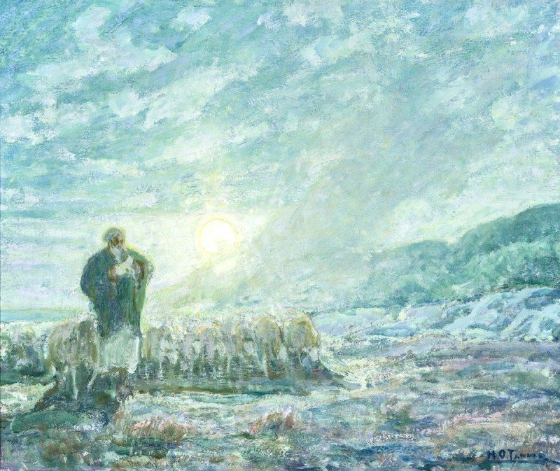 The Good Shepherd, by Henry Ossawa Tanner, c. 1914. New Orleans Museum of Art, New Orleans, Louisiana, United States.