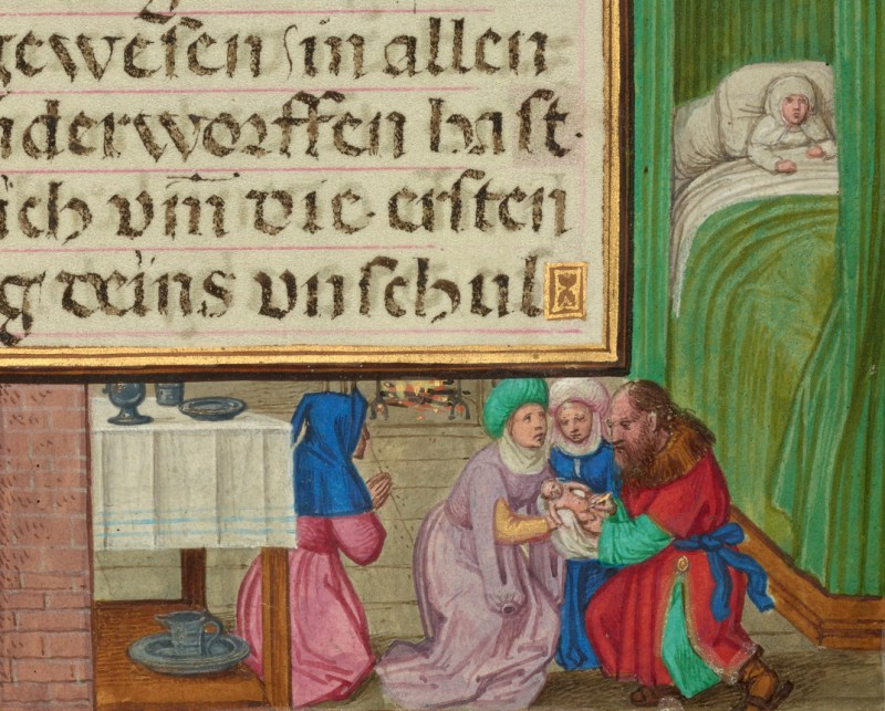 Border with the Circumcision of Isaac, by Simon Bening, c. 1525-30; Ms. Ludwig IX 19, fol. 29. J. Paul Getty Museum, Los Angeles, California, United States.