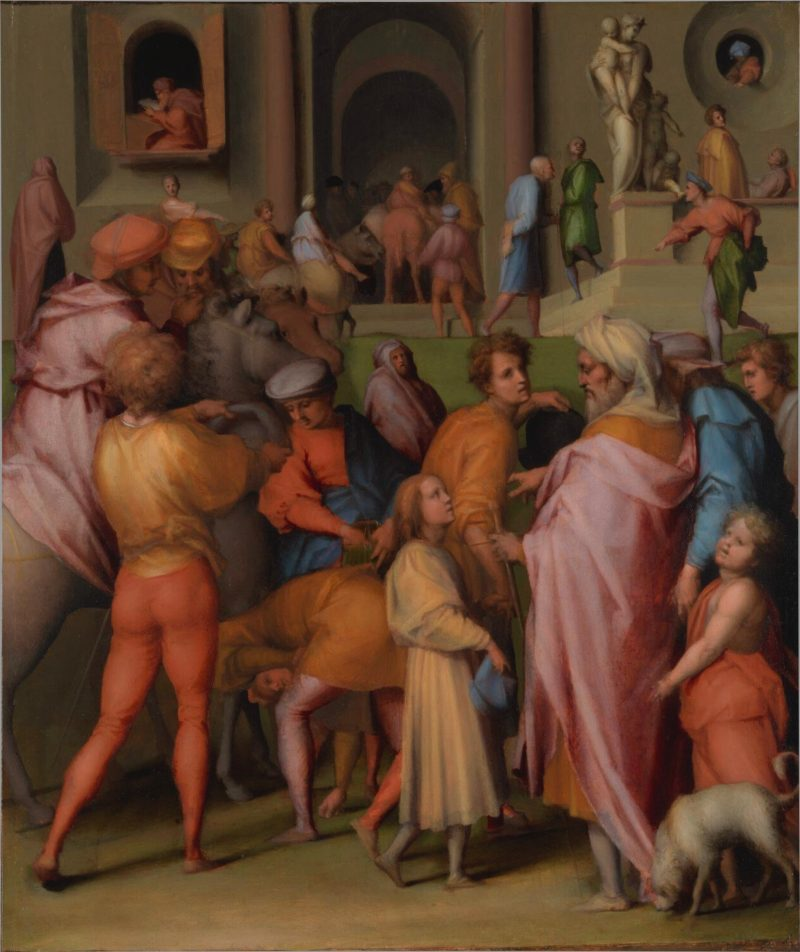 Joseph is Sold to Potiphar, by Pontormo, c. 1515. National Gallery, London, United Kingdom.