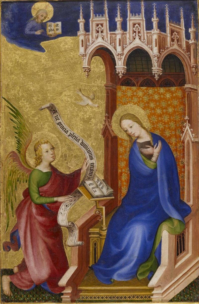 The Annunciation, c. 1400. Walters Art Museum, Baltimore, Maryland, United States.