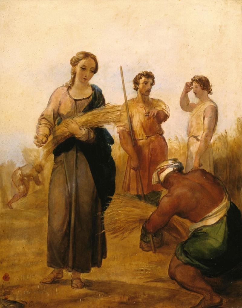 Ruth and Boaz, by George Frederic Watts, c.1835-37. Tate, London, United Kingdom.