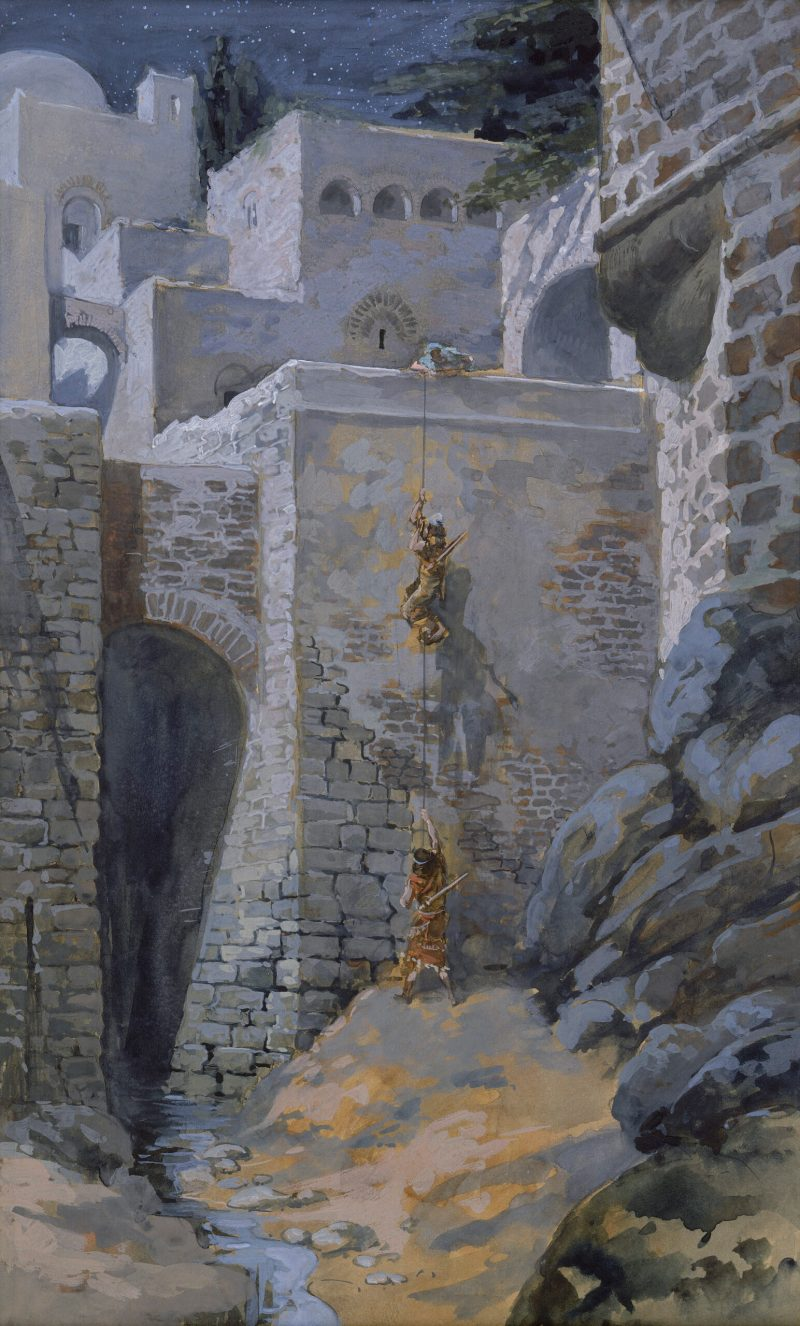 The Flight of the Spies, by James Tissot, c. 1896-1902. The Jewish Museum, New York, New York, United States.
