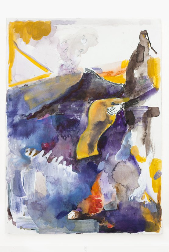 Untitled (Smoke signals), 40 x 30 cm. Gouache, acrylics, watercolor, ink and pencil on paper, 2015