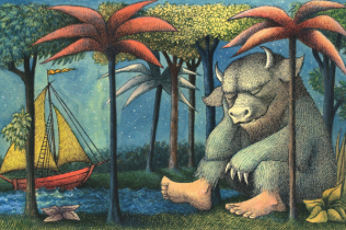 Maurice Sendak - Where the Wild Things Are (Childrens' Book Cover)