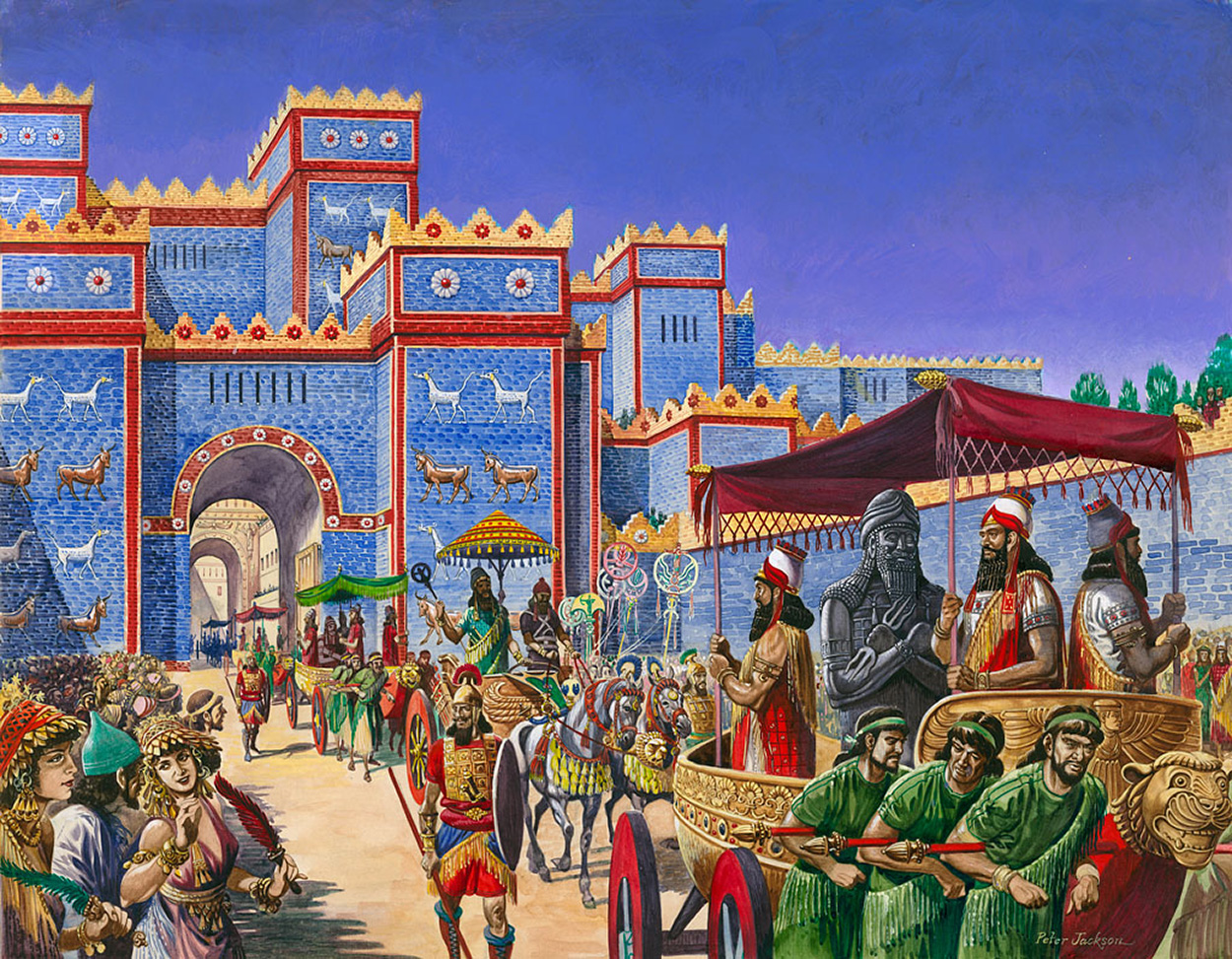 New Year s Day in Babylon by Peter Jackson at the Illustration Art     New Year s Day in Babylon  Original   Signed  by Peter Jackson at The