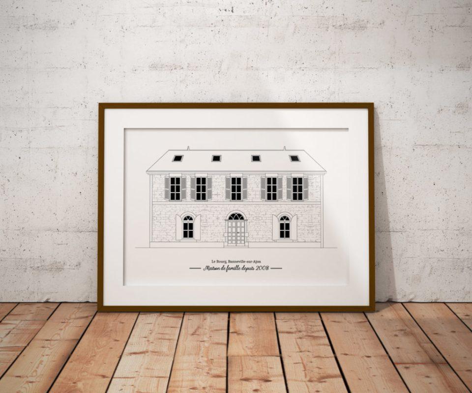 Maison_de_famille_campagne_illustration_cadeau_illustration_de_patrimoine_anne_letondot