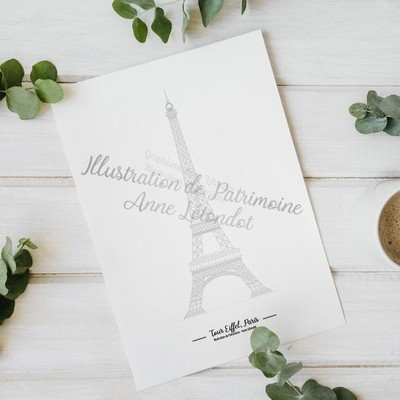 illustration_de_patrimoine_anne_létondot_boutique_paris_symbole_capitale_tour_eiffel_patrimoine_tourisme_souvenirs_de_vacances