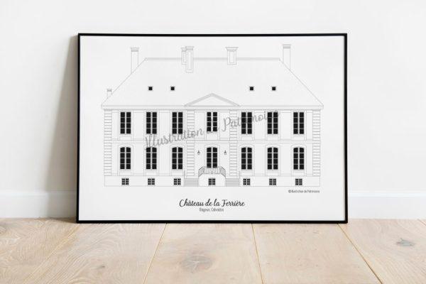 Chateau-de-la-ferrière-Normandie-Illustration-de-Patrimoine