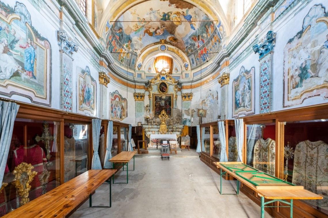 Chapelle de l'annonciation, photographie,de l'intérieur, loto du patrimoine mission bern 2021